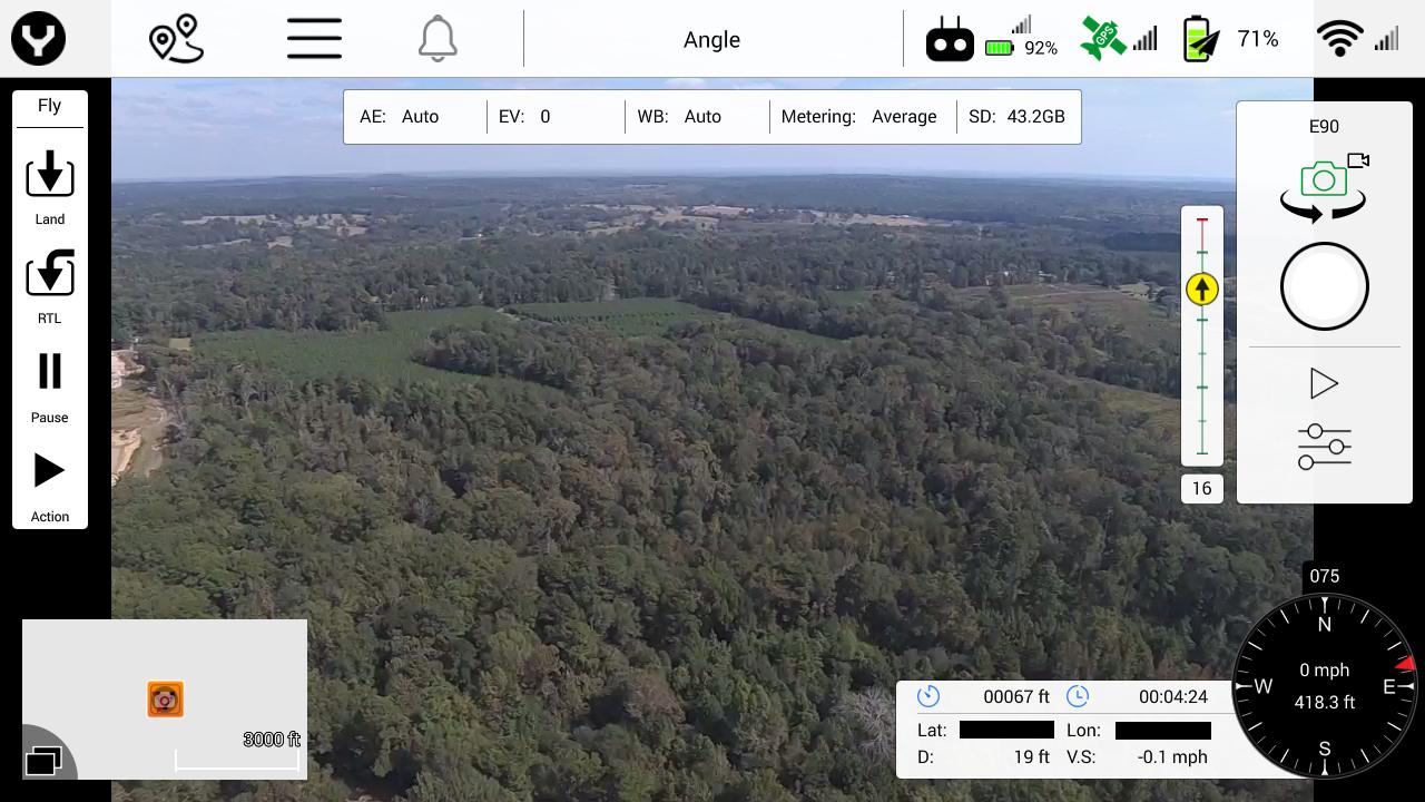 Camera View Flight Screen w/Data Info – Vertigo Drones